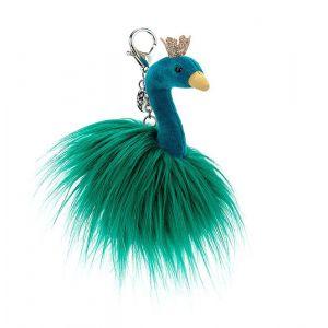 Fancy Peacock Bag Charm