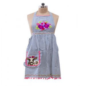 Embroidered Cow Apron