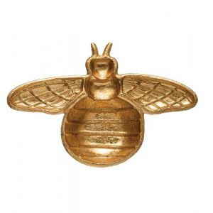 Cast Iron Gold Bee Dish