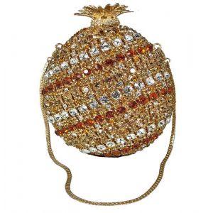 Jeweled Pineapple Evening Bag