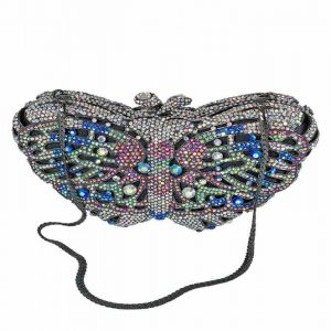 Jeweled Butterfly Evening Bag