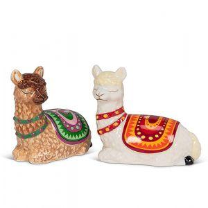 Resting Llamas Salt & Pepper Shakers