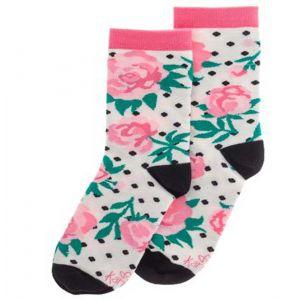 Pink Peony Crew Socks
