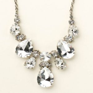Teardrop Triangle Bib Necklace