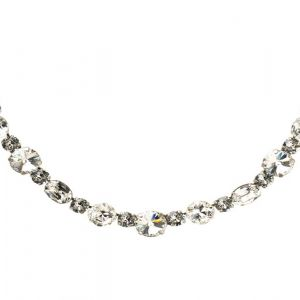 Graduated Clear Crystal Classic Necklace