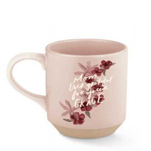 Mom Grateful Stoneware Mug