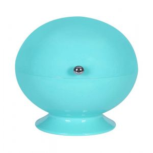 Turquoise Roll Top Bowl