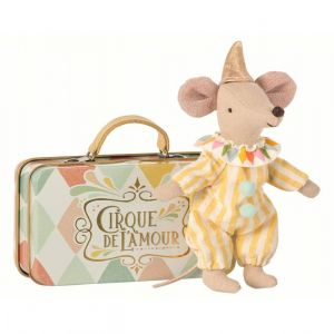 Clown Brother Mouse in Suitcase