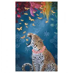 Jaguar and Butterflies on Canvas