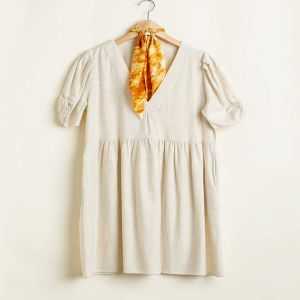 Oatmeal Baby Doll Dress
