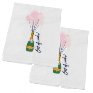 Out of Control Embroidered Towels