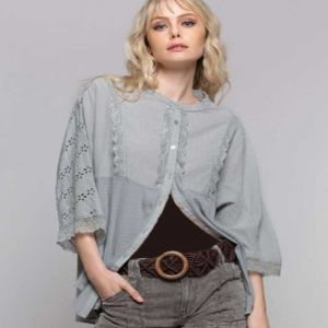 Dove Grey Lace Top