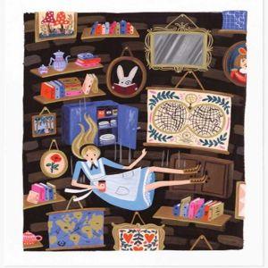 Alice Falling Art Print