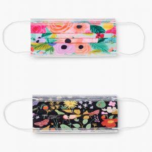 Floral Disposable Face Masks - Set of 10