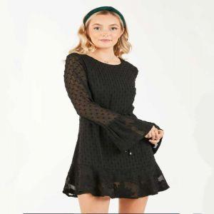 Black Lace Mini Dress