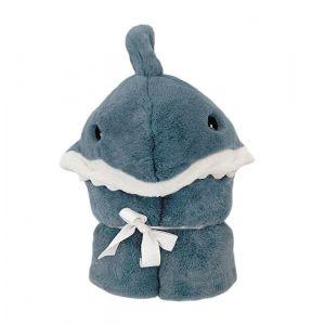 Seaborn Shark Hooded Toddler Blanket