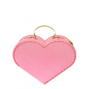 Small Pink Heart Suitcase