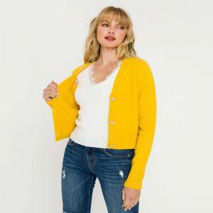 Heart Button Cardigan Sweater