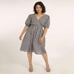 Open-Back Gingham Dress