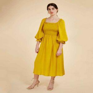 Sunflower Yellow Smock Dress