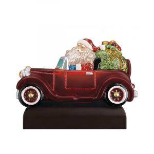 Santa In Antique Car Light Ornament