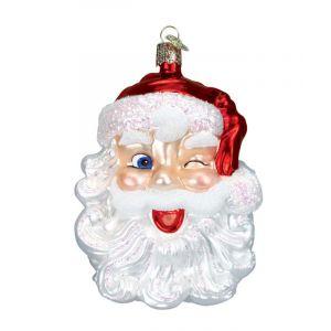 Winking Santa Ornament
