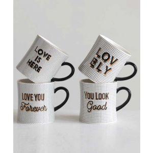 Stoneware Mug with Encouraging Saying