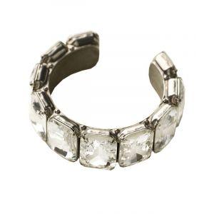 Emerald-Cut Crystal Cuff Bracelet