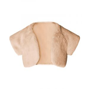 Faux Fur Powder Pink Bolero Shrug