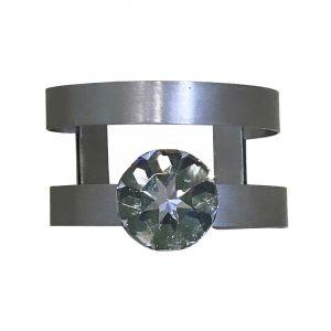 Cuff Bracelet with Swarovski Crystal