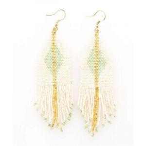 Geometric Seed Bead Earrings