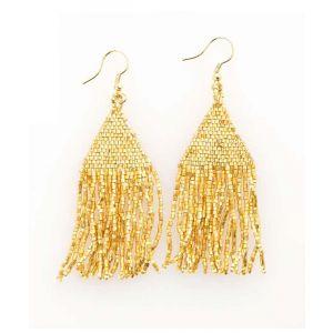 Gold Petite Fringe Earrings