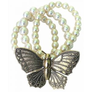 Butterfly and Pearl Bracelet