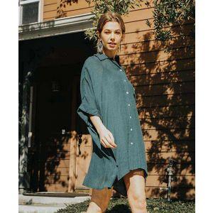 Sheer Seaweed Lined Dress