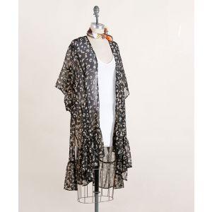 Black and Gold Leopard Kimono