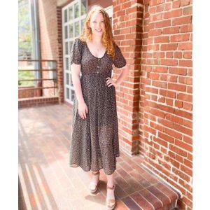 Sheer Black Floral Maxi Dress