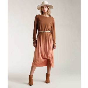 Rust Ombre Maxi Dress