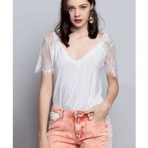 Ivory Lace Tee