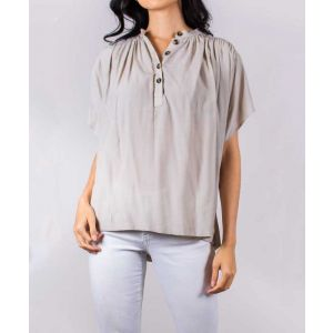 Ruched Woven Blouse