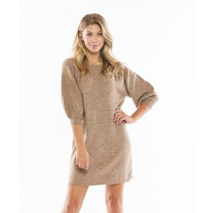 Marbled Mocha Knit Dress