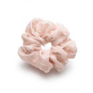 Frayed Blush Scrunchie