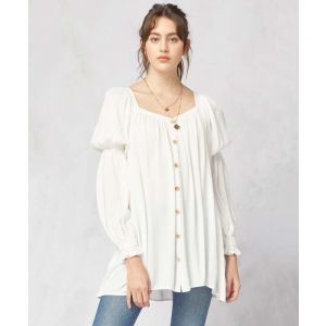 Off White Top with Juliette Sleeves