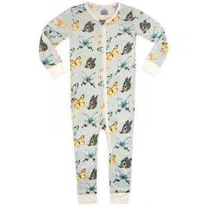 Butterfly Bamboo Zipper Pajamas