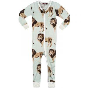 Lion Bamboo Zipper Pajamas